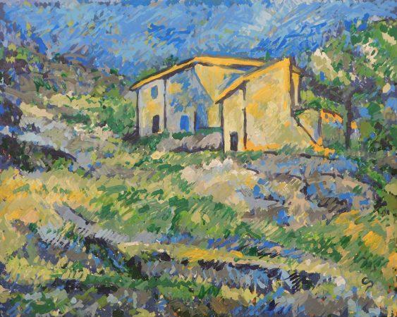 CloudPainter   Reproducción de las casas de Cézanne en L'Estaque - 1880   imagen en la pagina de RobotArt
